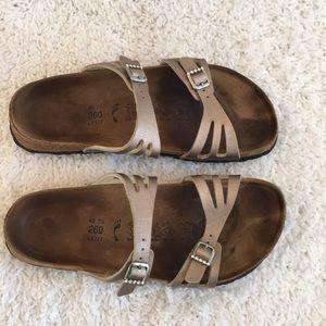 Birki's Moorea Double Strap Sandals Rhinestones